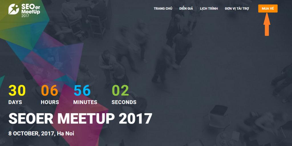 Hướng dẫn mua vé tham dự sự kiện SEOer MeetUp 2017